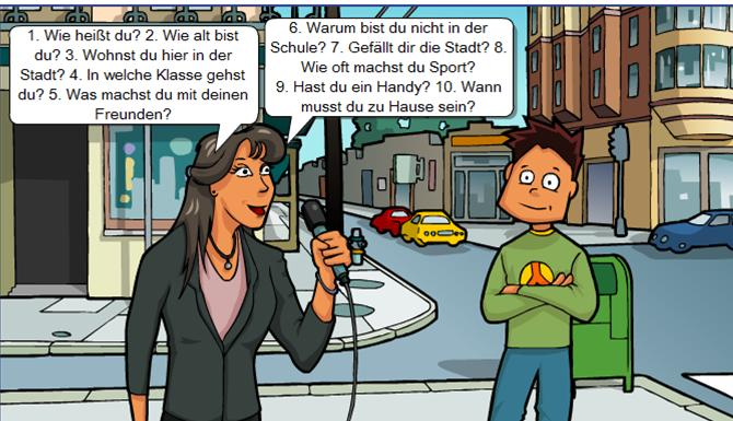 Cartoon: ein Interview